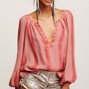 (Free People) Against All Odds Peasant top